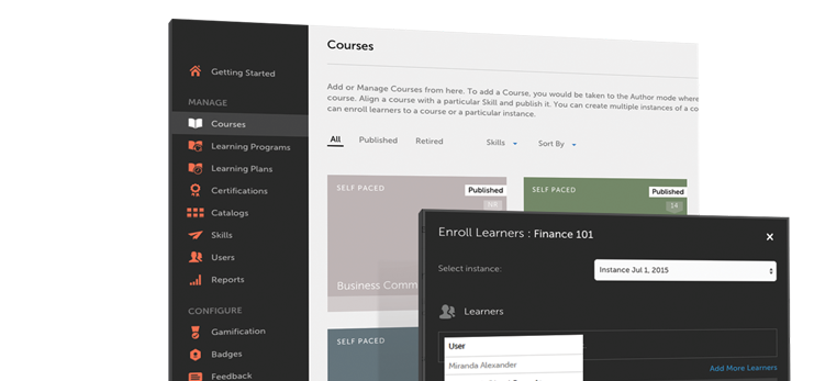 Adobe Captivate Prime is an LMS with a learner-1st approach.